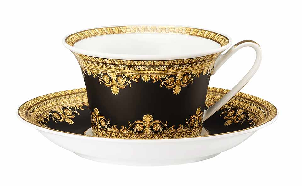 VERSACE I Love Baroque Tea Cup Nero