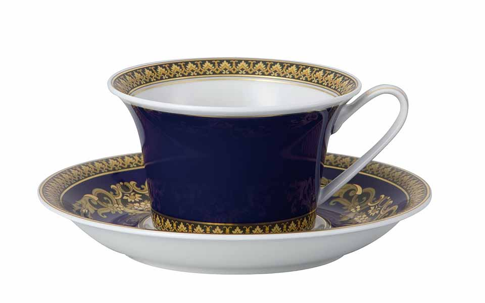 VERSACE Medusa Blue Tea Cup and Saucer