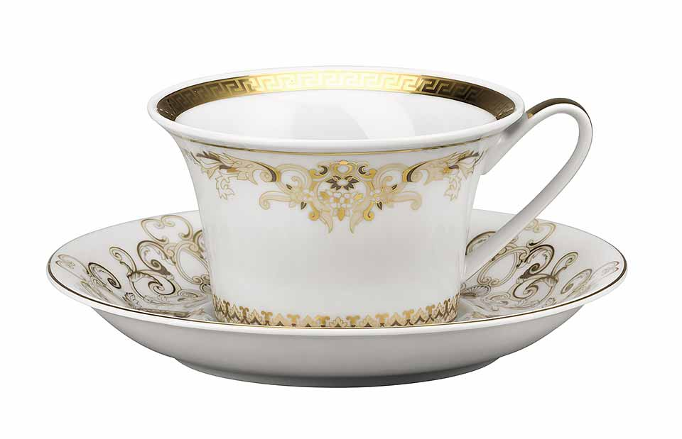VERSACE Medusa Gala Gold Cup and Saucer