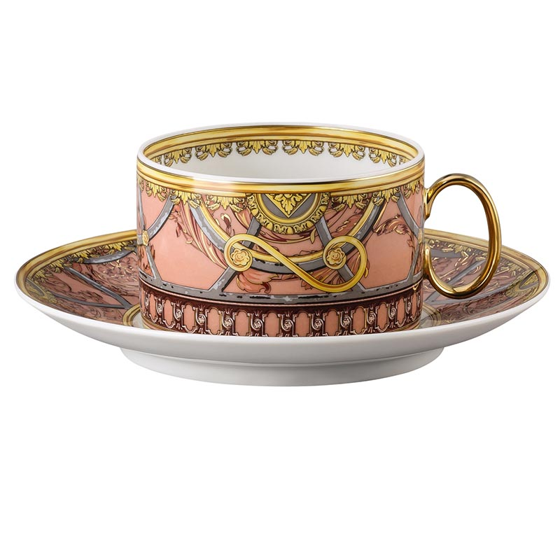 La Scala del Palazzo tea cup and saucer rose